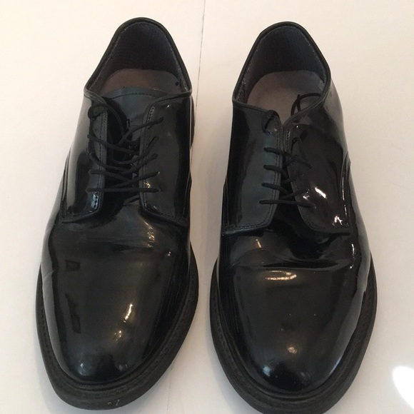 Vibram Shoes | Men Gloss Black Uniform Dress Shoes | Poshmark